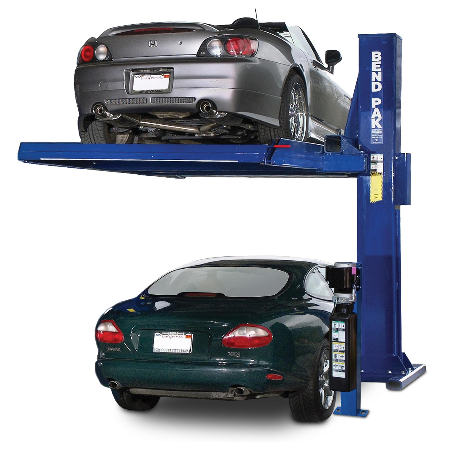 Bendpak pl 6000 single post car stacker parking deck lifts for Garage auto discount montpellier