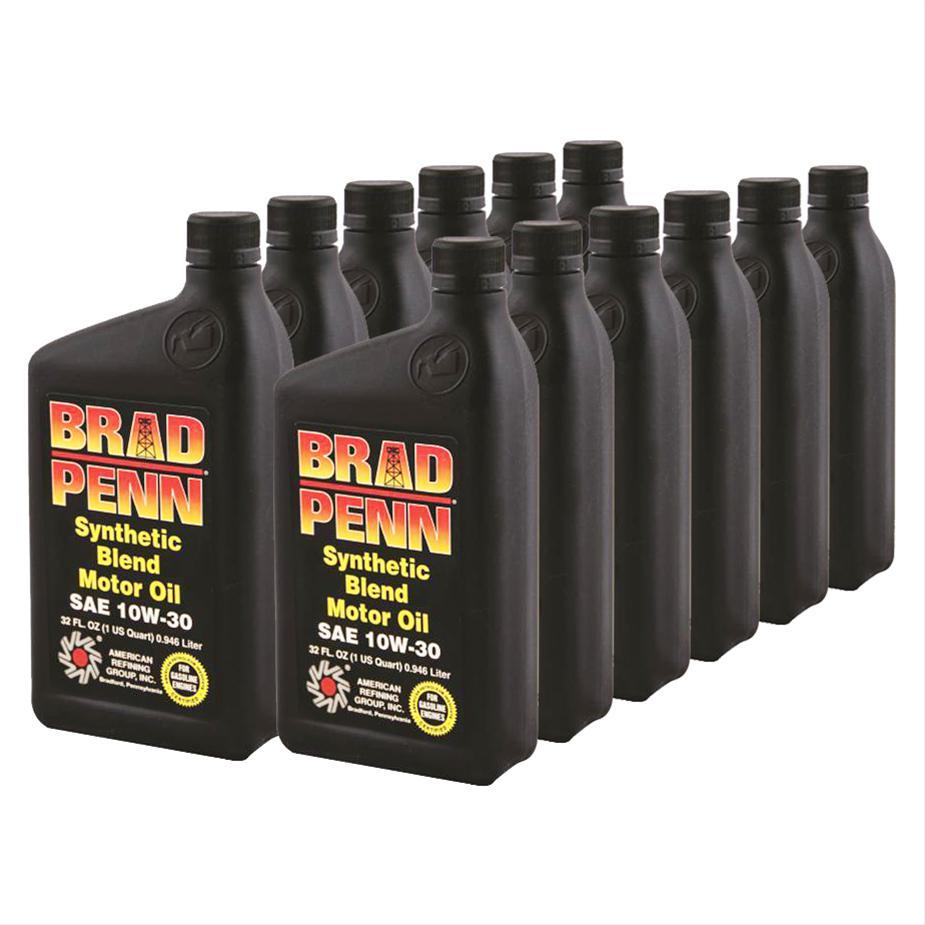 Brad penn motor oil grade 1 semi synthetic 10w30 zddp for Synthetic vs non synthetic motor oil