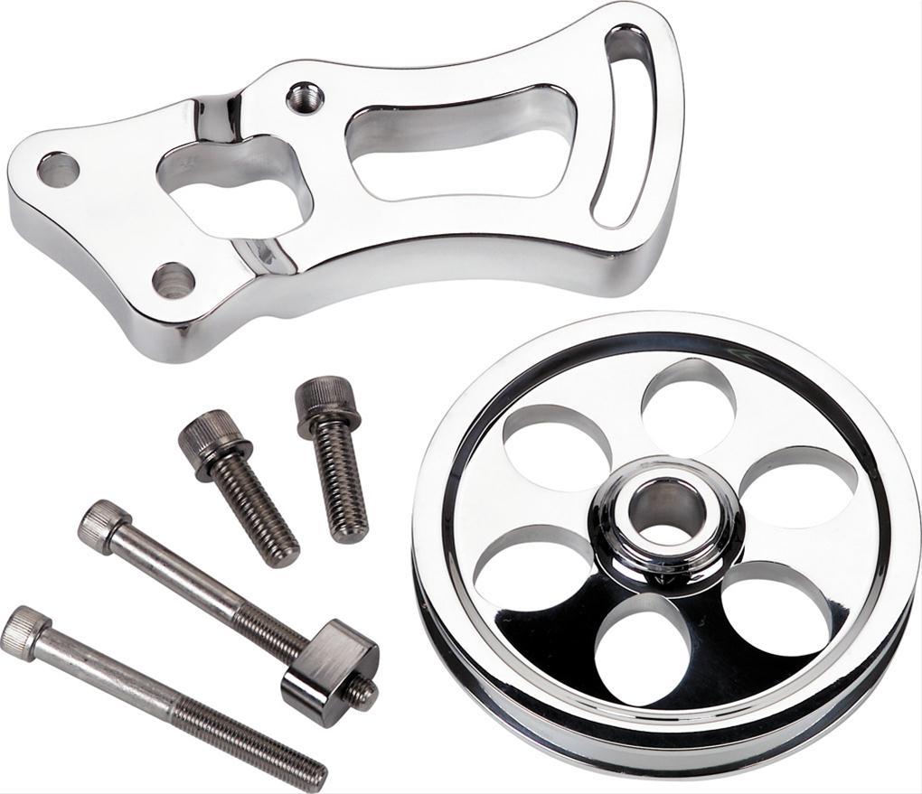 Billet Spec Power Steering Bracket And Pulley Aluminum