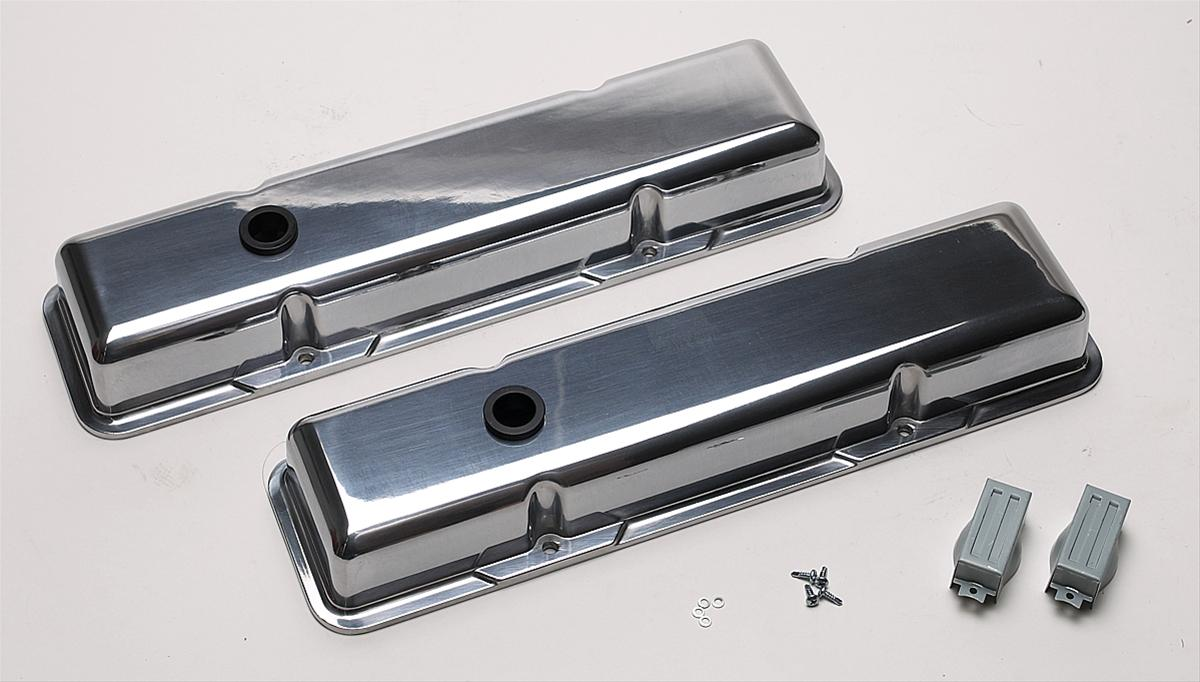 Tall Billet Specialties 95229 Valve Covers Plain Small Block Chevy
