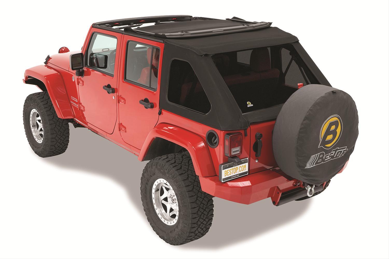 Jeep Wrangler Tops >> Jeep Wrangler Bestop Trektop Nx Soft Tops 56923 17 Free Shipping