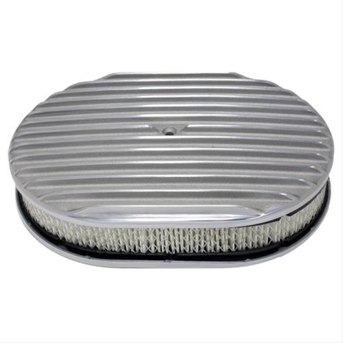 Finned Air Cleaner : Cal custom finned aluminum air cleaner ebay
