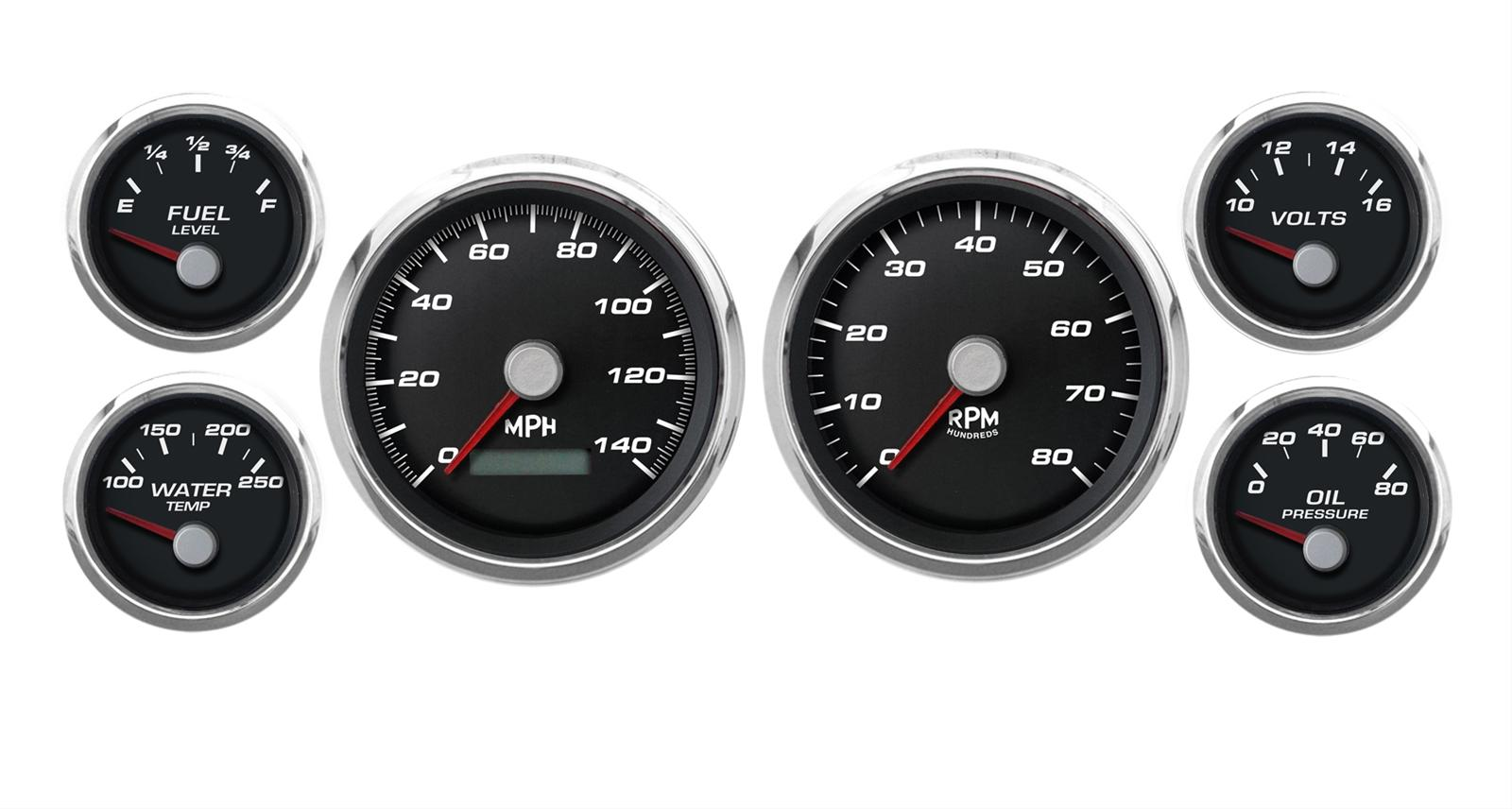 Cal Custom Performance Series Analog Gauge Kits 220261401 Wiring A Fuel In Jeep Free Shipping On Orders Over 99 At Summit Racing