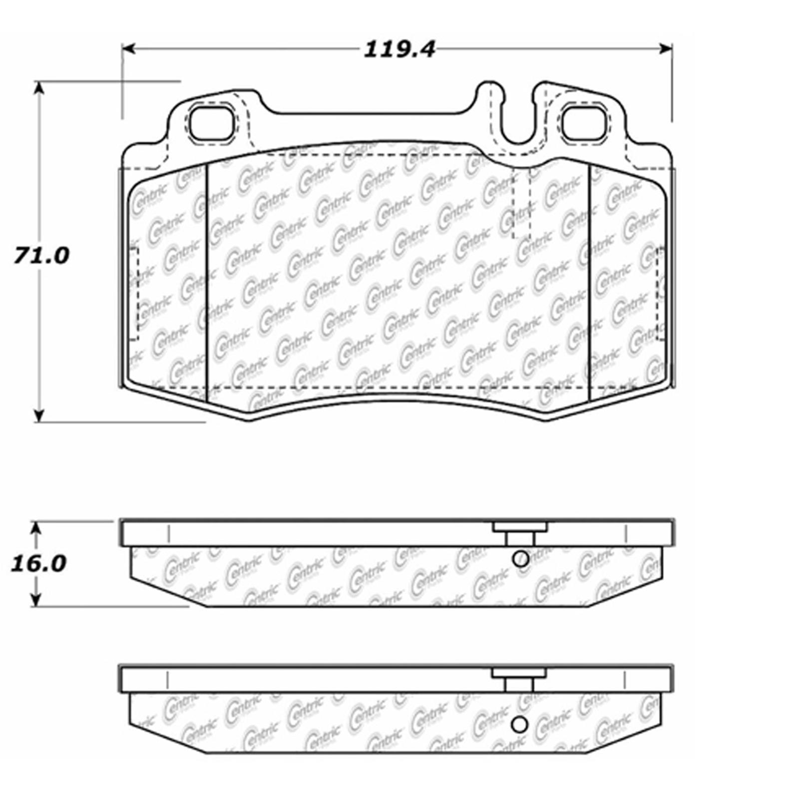 Centric Parts 300.10390 Semi Metallic Brake Pad with Shim