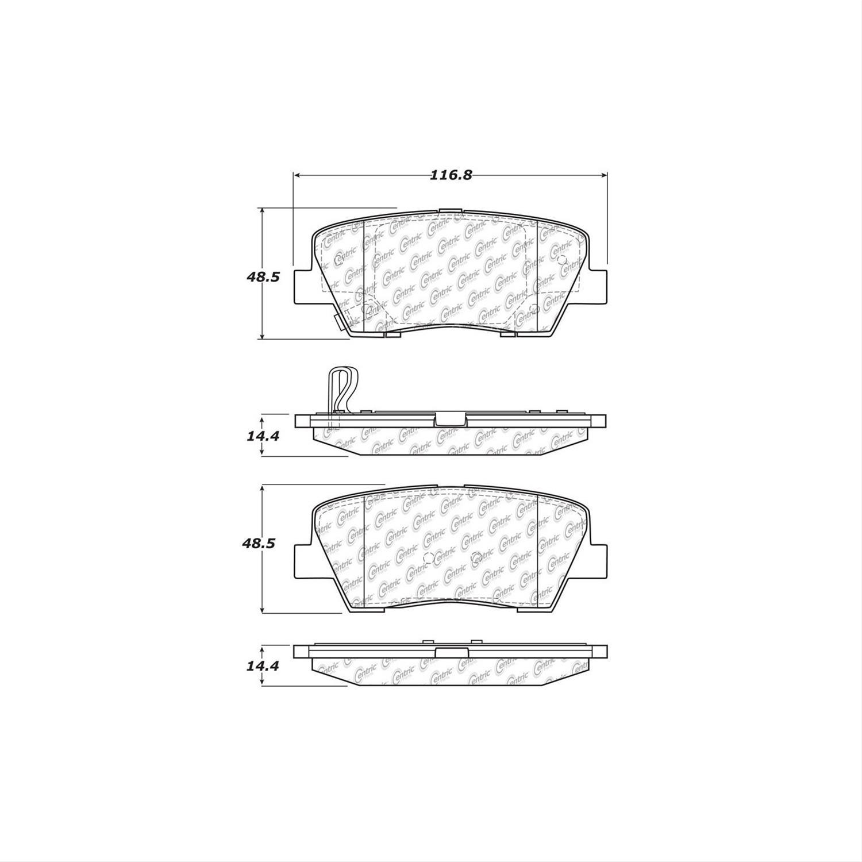 Brake Pad 103.12840 Centric Ceramic