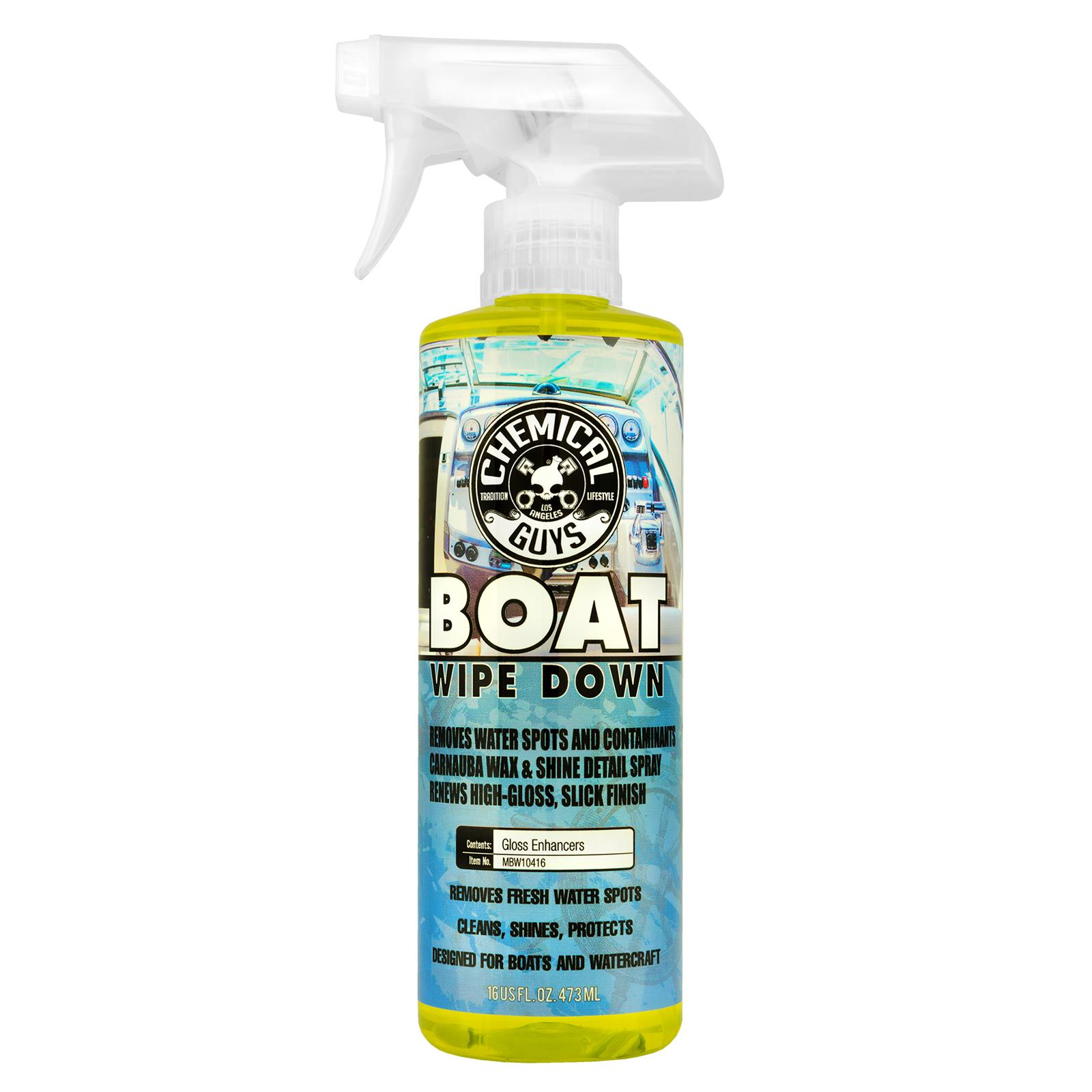 Chemical Guys Marine Wipe Down Quick Detailer and Water Spot Remover  MBW10416