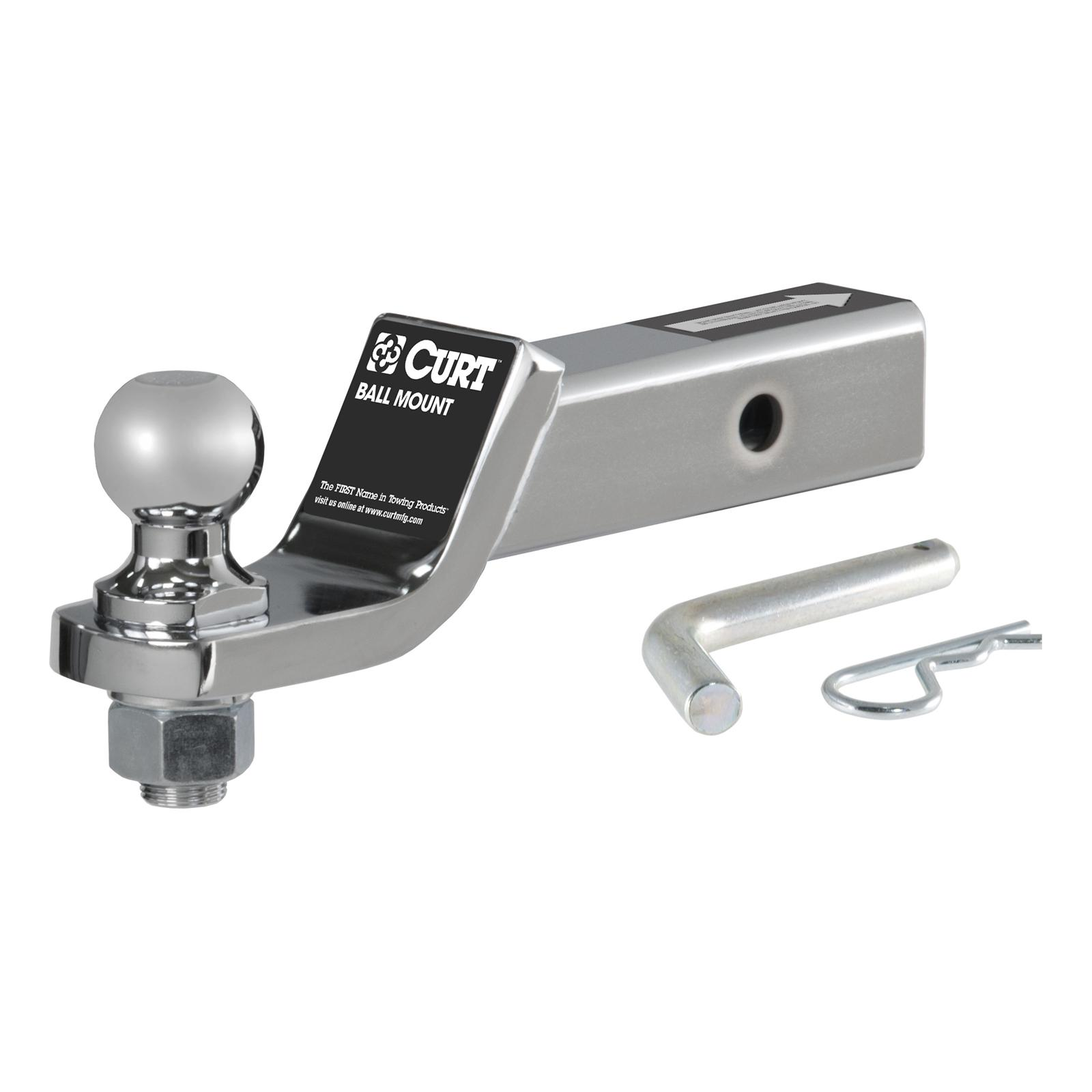 CURT Manufacturing 45055 Class III 2 Loaded Ball Mount with 1-7//8 Ball