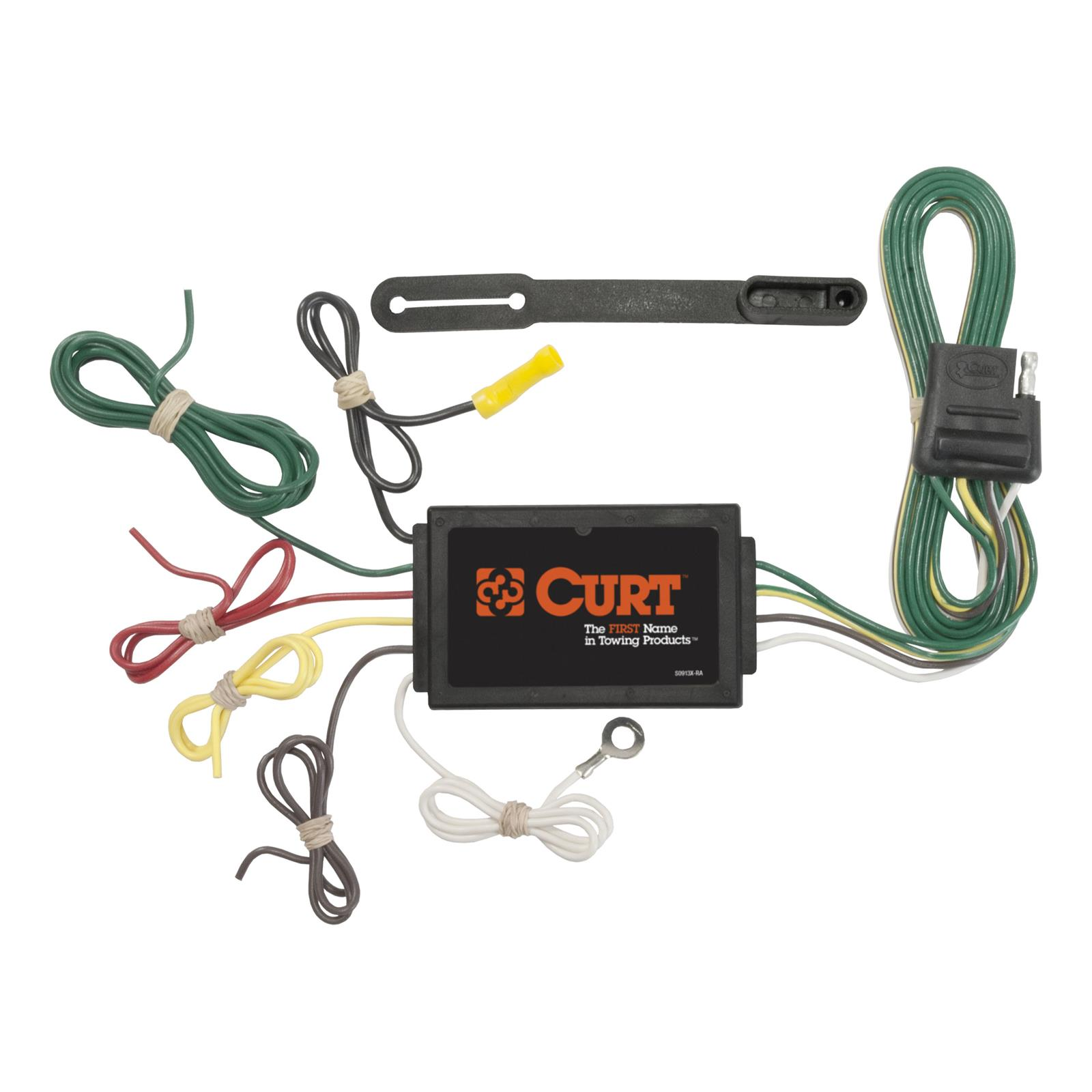 Equipment Trailer Wiring Harness : Curt vehicle towing harness adapter trailer wire