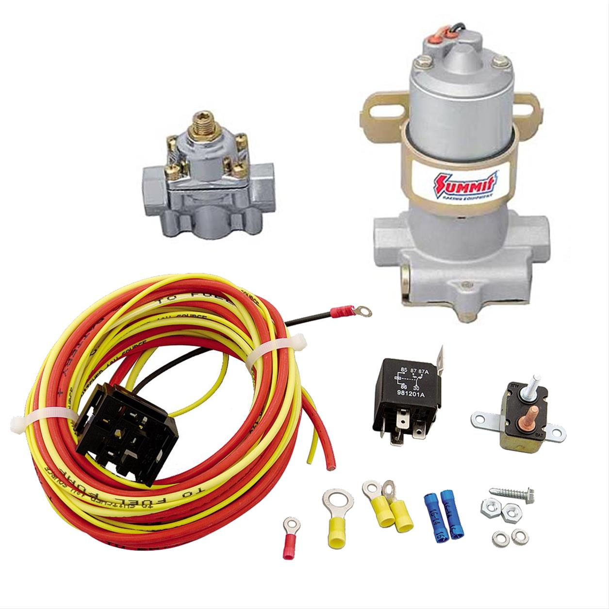 summit racing 105 gph 14 psi max electric fuel pump \u0026 30 amp relay Fuel Pump Harness Connector Problems details about summit racing 105 gph 14 psi max electric fuel pump \u0026 30 amp relay kit combo