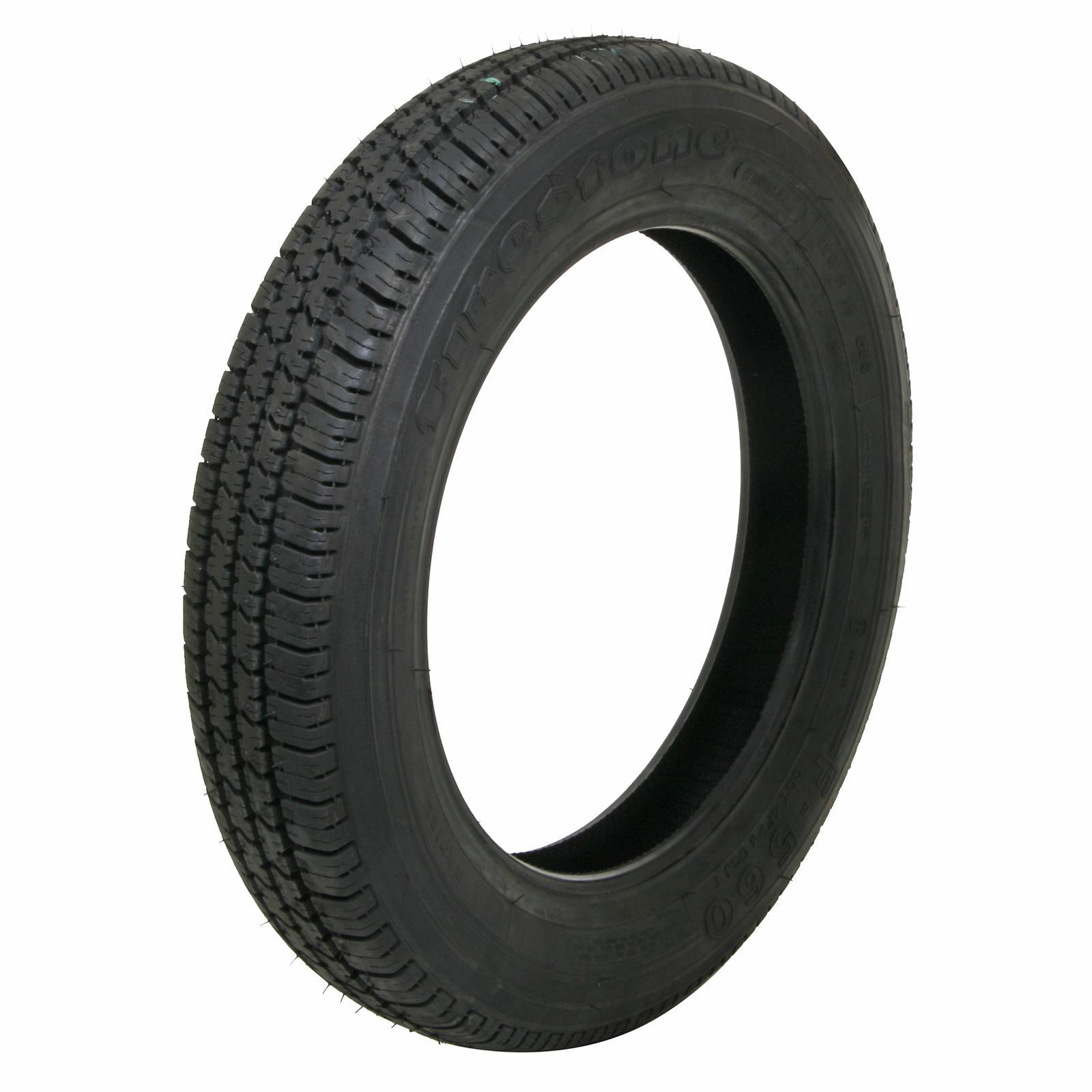 Pair 2 Coker Firestone F560 Tires 125 15 Radial Blackwall