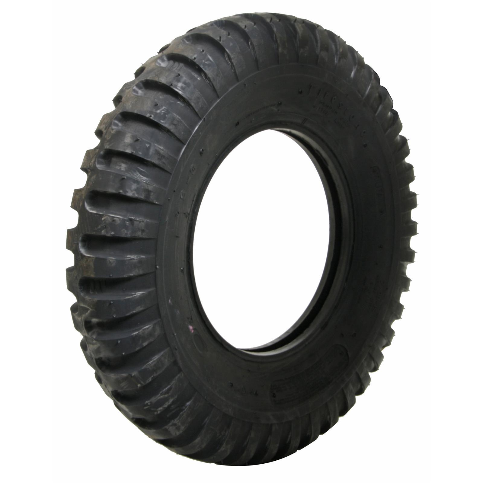 Set of 4 Coker Firestone Military Tires 7 00 15 Bias ply Blackwall