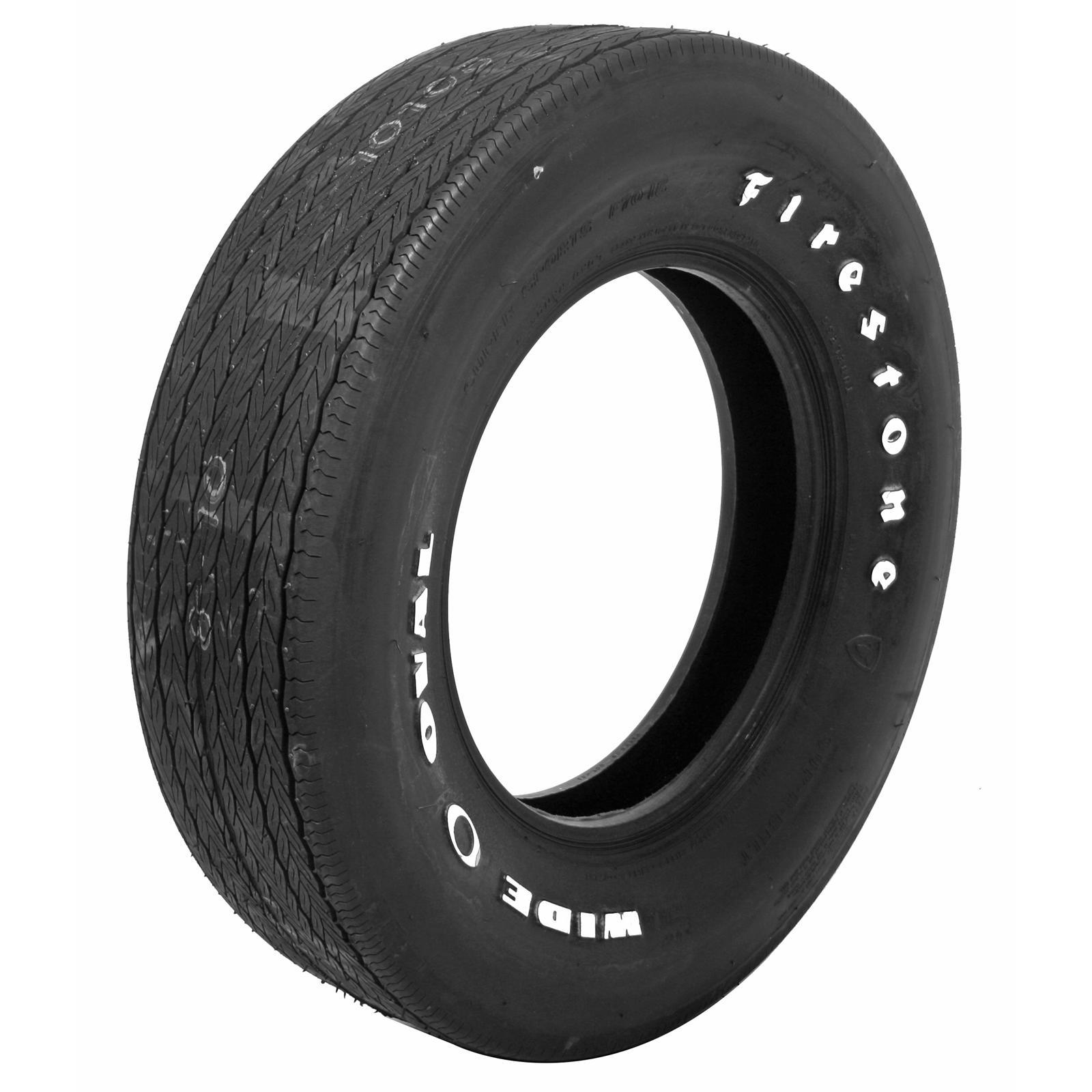 Set of 4 Coker Firestone Wide Oval Tires F70 15 Bias ply Wht Letter