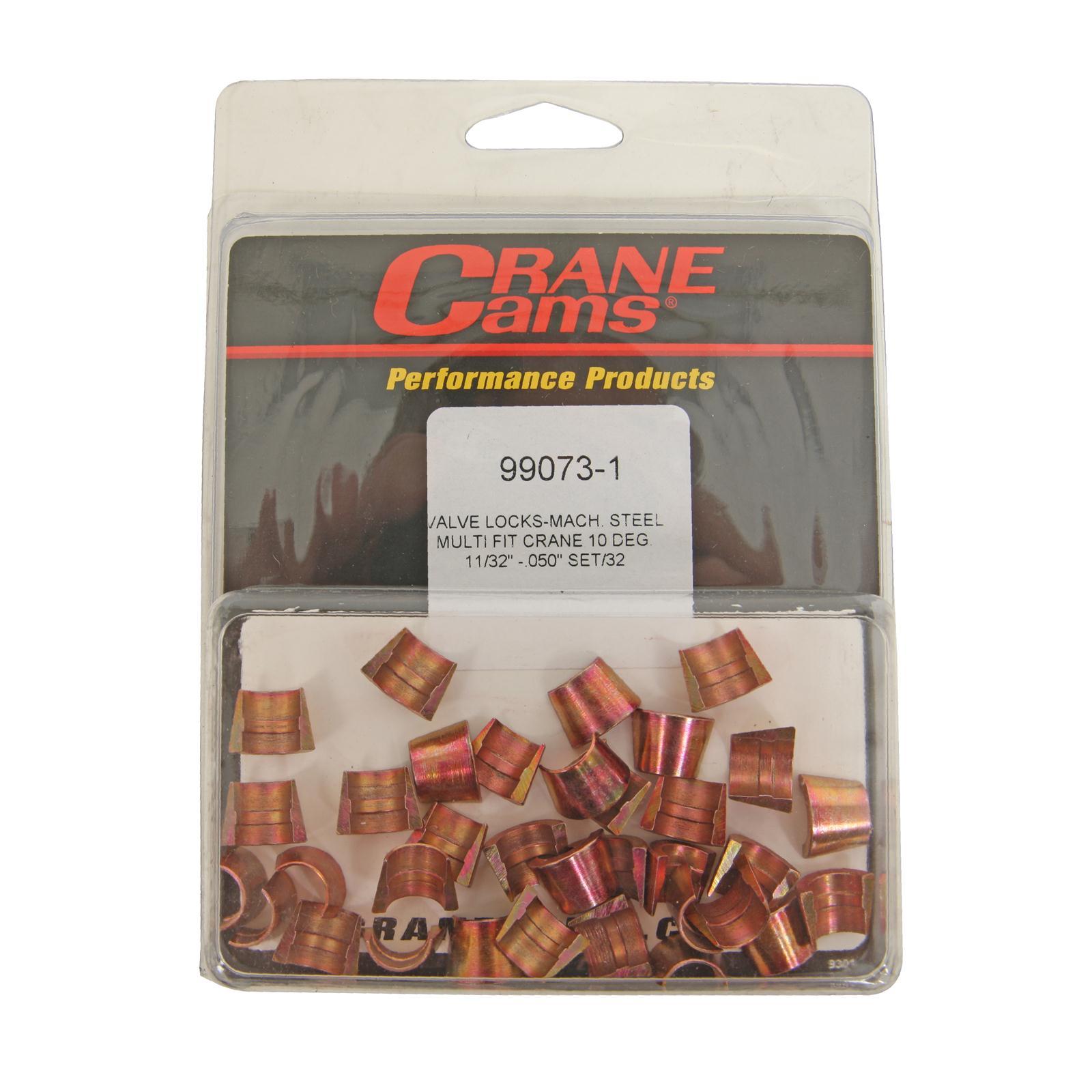 Crane Cams 99074-1 11//32 Machined Steel Valve Lock, Set of 32
