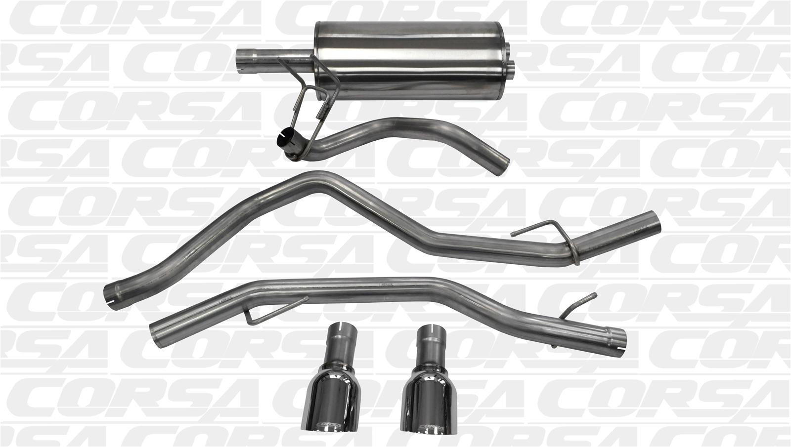 Ram 1500 Exhaust >> Dodge Ram 1500 Corsa Sport Exhaust Systems 14405 Free Shipping On
