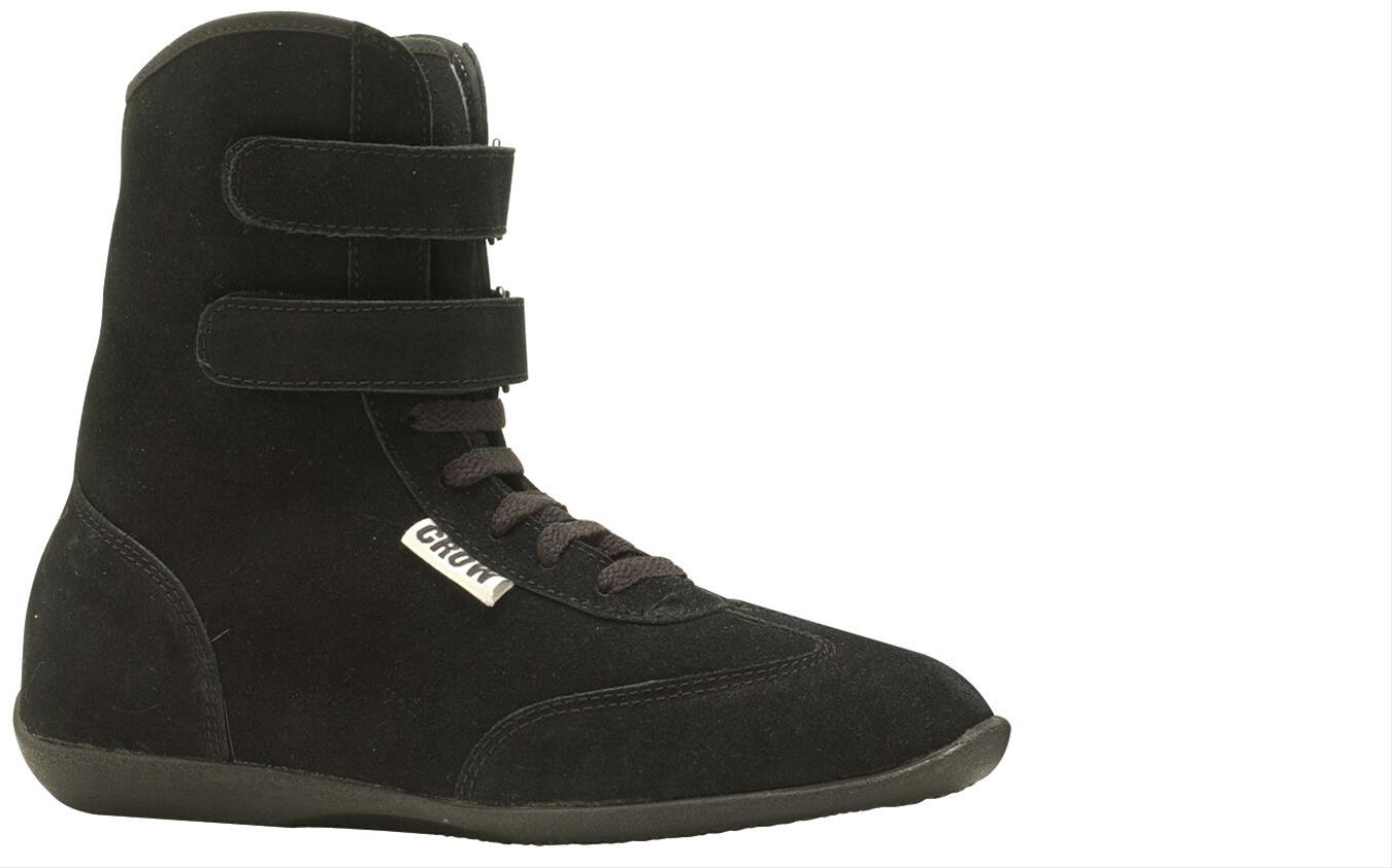 3c93df9acb5e09 Crow Enterprizes High-Top Suede Driving Shoes 21900BK - Free Shipping on  Orders Over  99 at Summit Racing