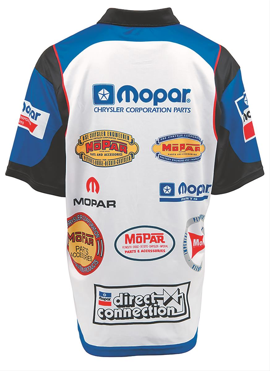a8962171 Mopar Logo History Pit Shirt 488232 - Free Shipping on Orders Over $99 at  Summit Racing