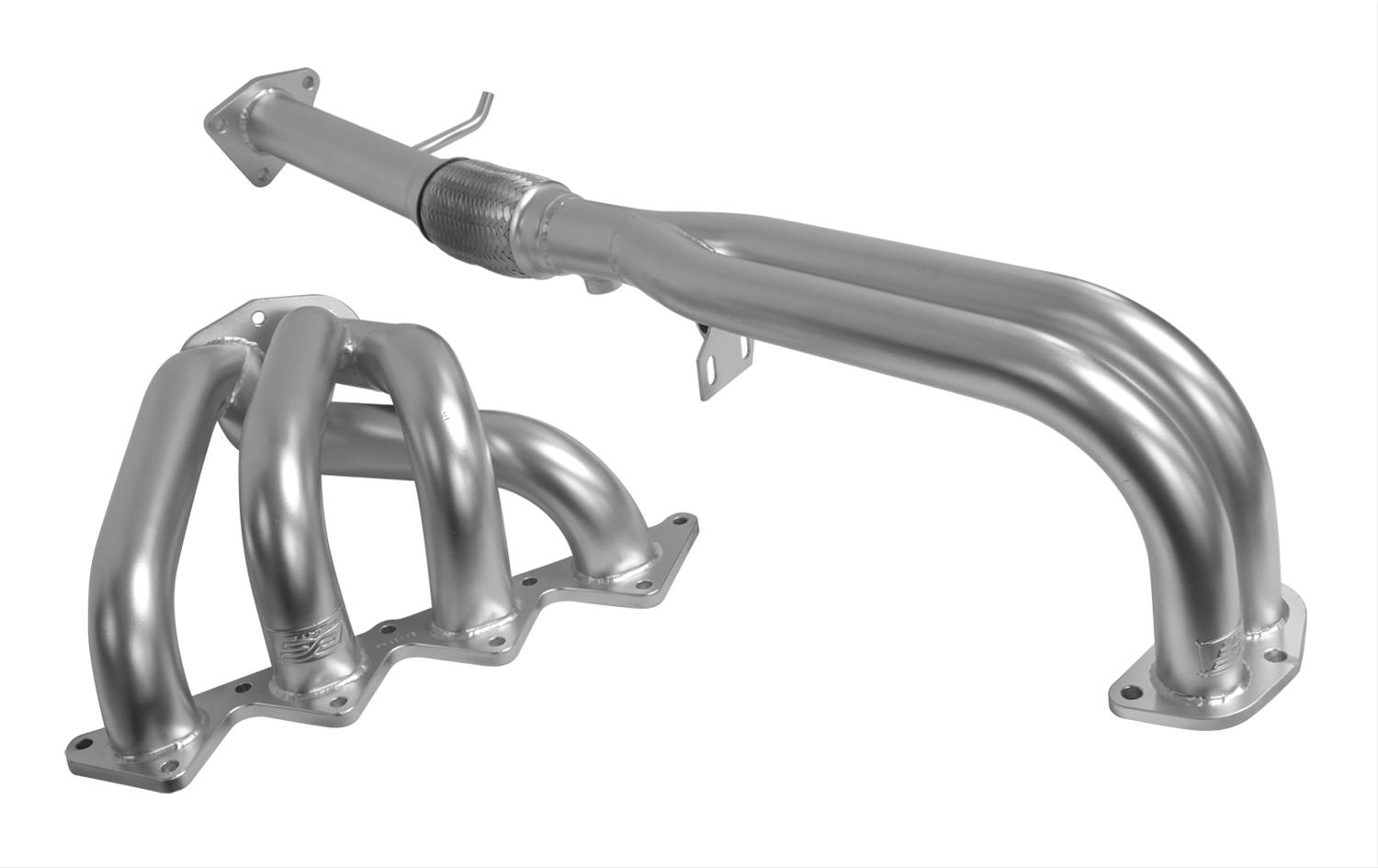 2 Piece Silver DC Sports HHC5009 Prelude VTEC 4-2-1 Header with Ceramic Coating
