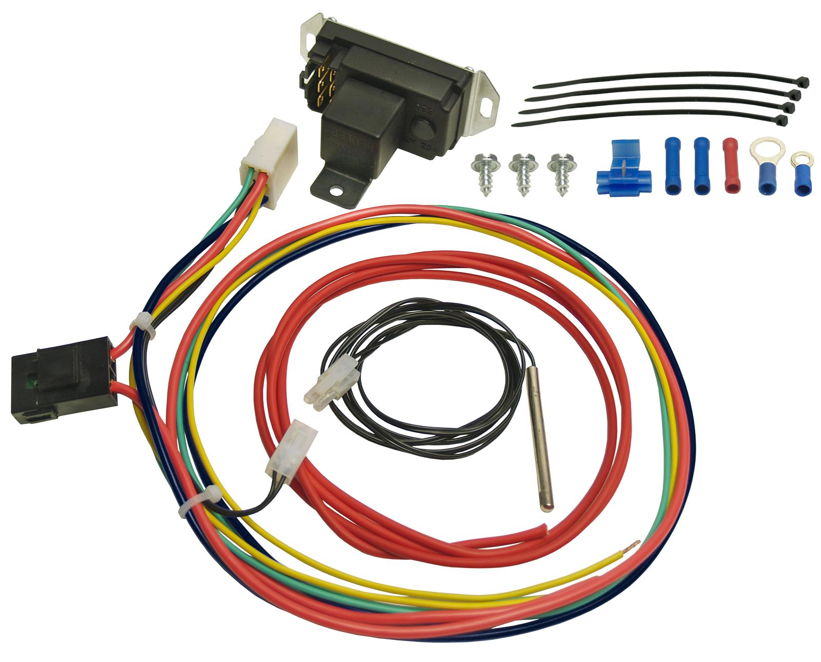 Adjustable Radiator Fan Control Wiring Diagram Electric Fans Derale Deluxe Controllers With Probes 16759 Rh Summitracing Com 2008 F450 Coolant Cooling