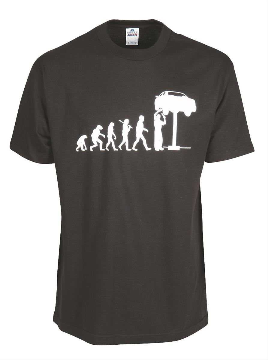 Evolution of the mechanic t shirt sr 001m ebay for Mechanic shirts with logo