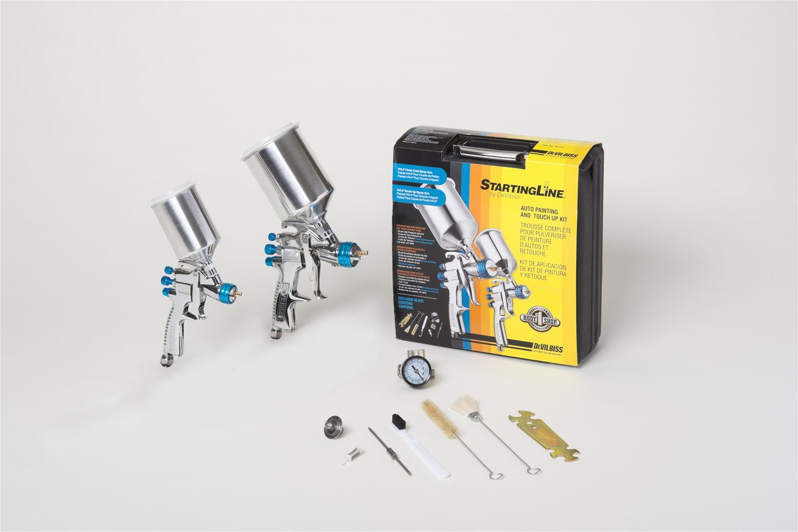 Paint Spray Gun Kit Part - 20: DeVilbiss StartingLine HVLP Gravity Feed Paint Spray Gun Kits 802342 - Free  Shipping On Orders Over $99 At Summit Racing