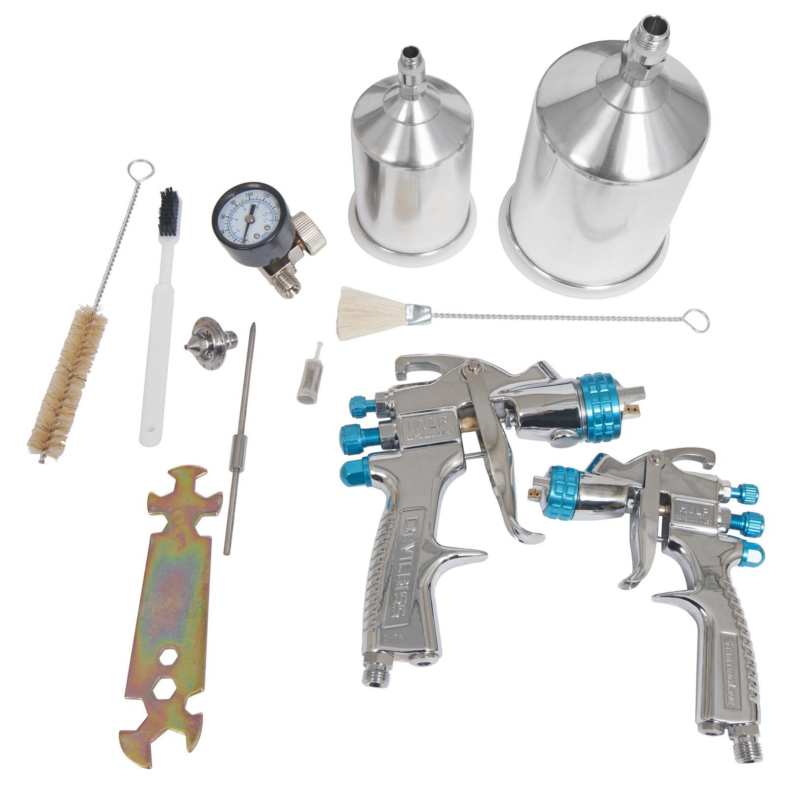 Hvlp Spray Gun Kit >> Devilbiss Startingline Hvlp Gravity Feed Paint Spray Gun Kits 802342
