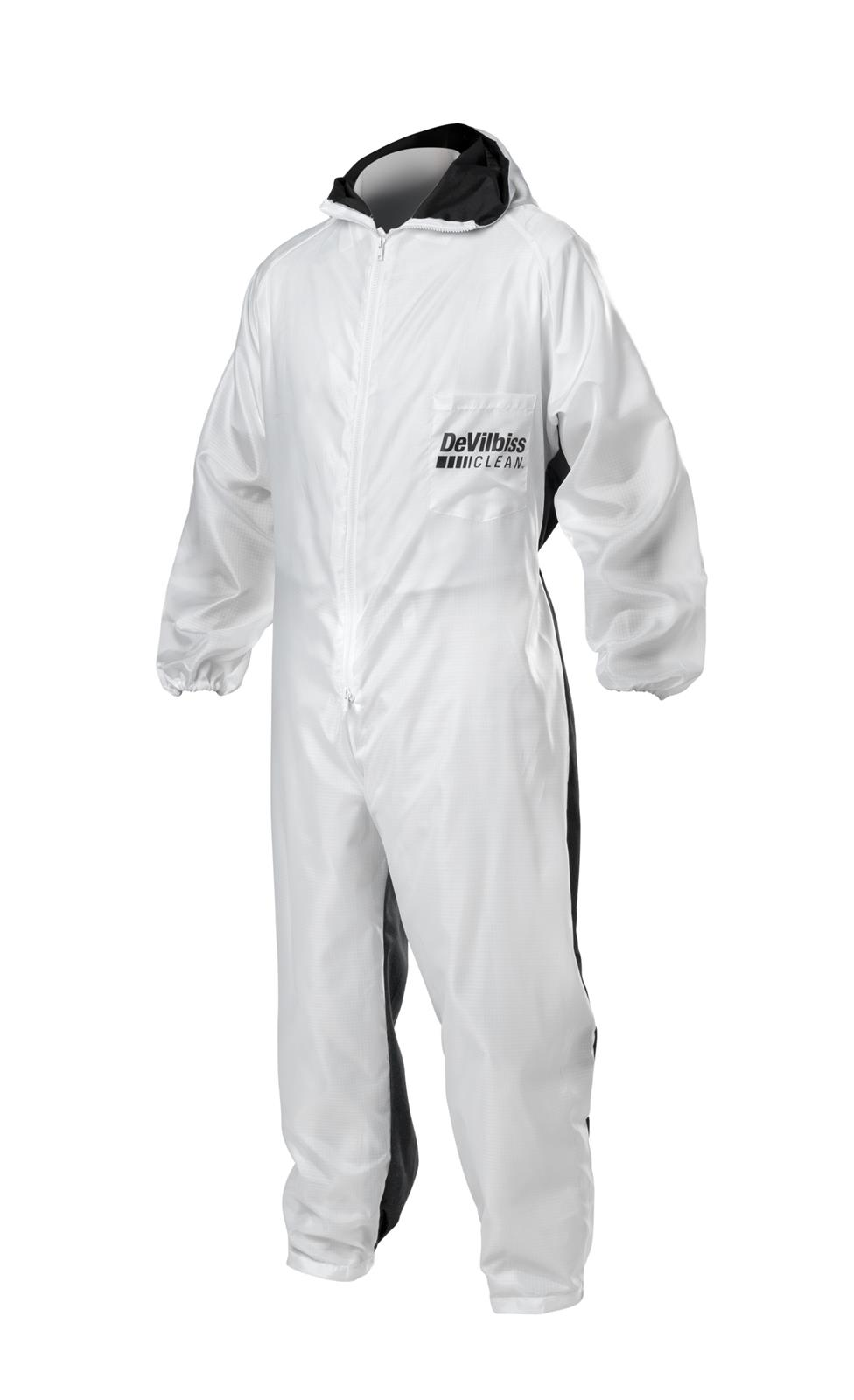 Large DeVilbiss DEV-803665 Reusable Lab Coat with Pullover Hood