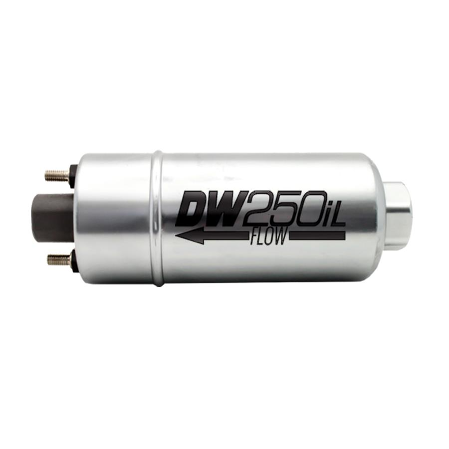 9-250 DeatschWerks 250LPH In-Line External Fuel Pump w// Mounting Brackets