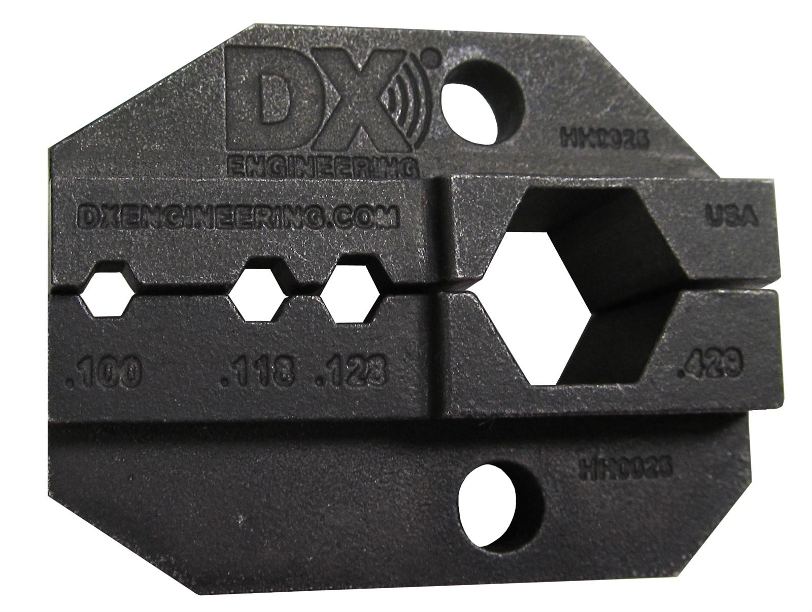 dx engineering crimp tool dies dxe ut die 8u free shipping on orders over 99 at summit racing. Black Bedroom Furniture Sets. Home Design Ideas