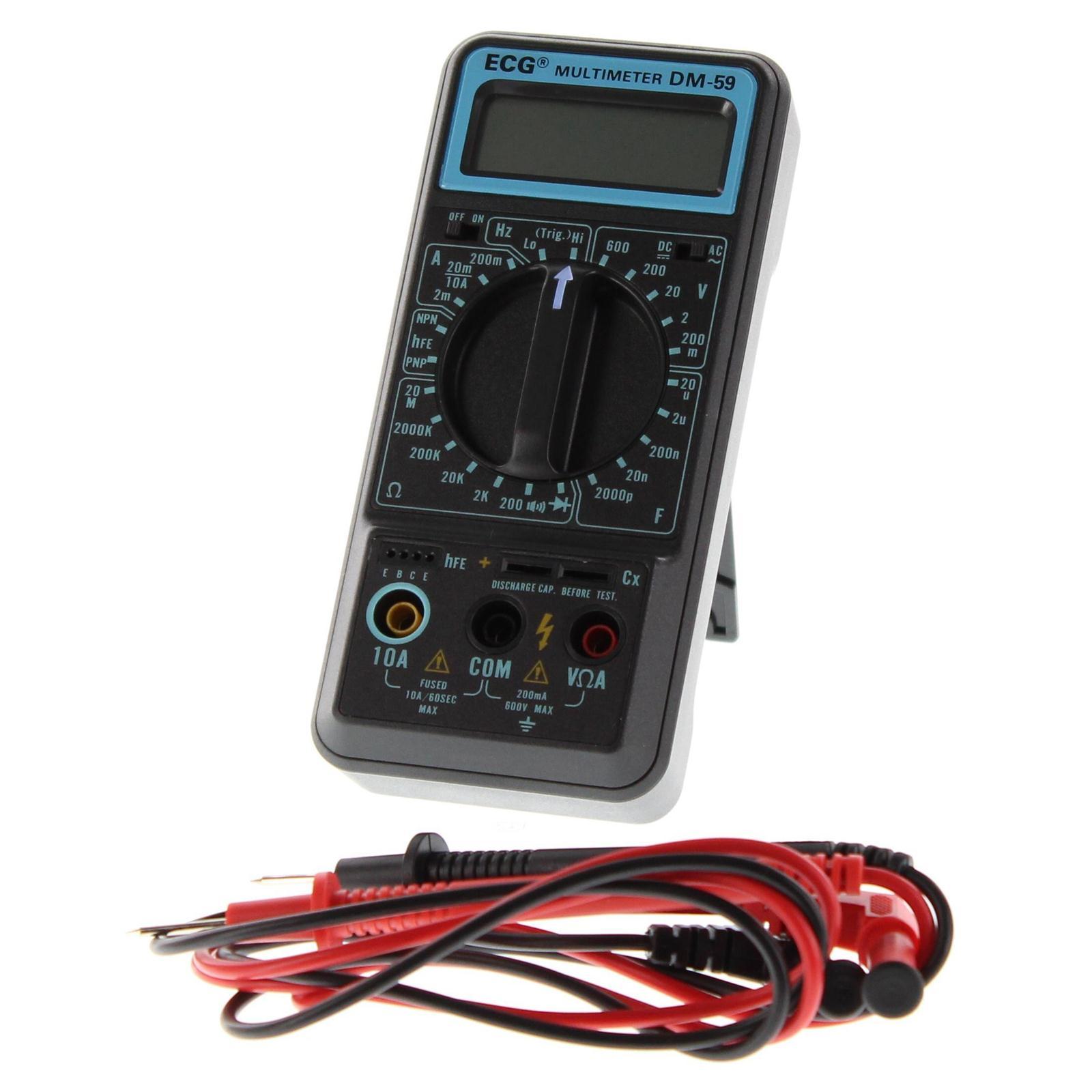 Summit Digital Meters : Ecg digital multimeters dm free shipping on orders