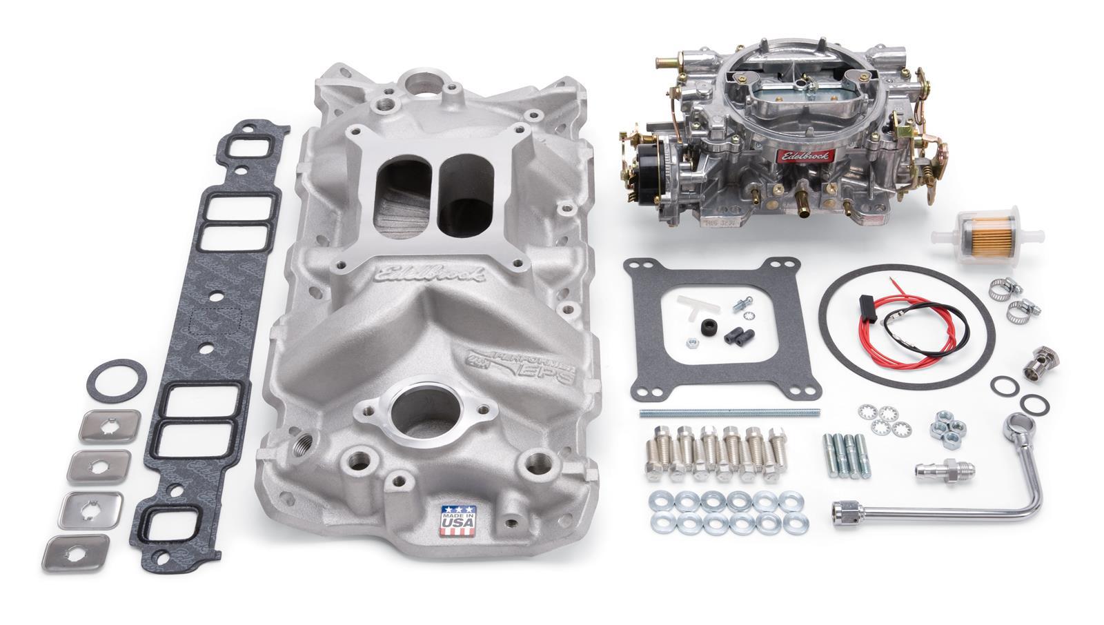 Edelbrock Performer EPS Intake Manifold and Carburetor Kits 2021