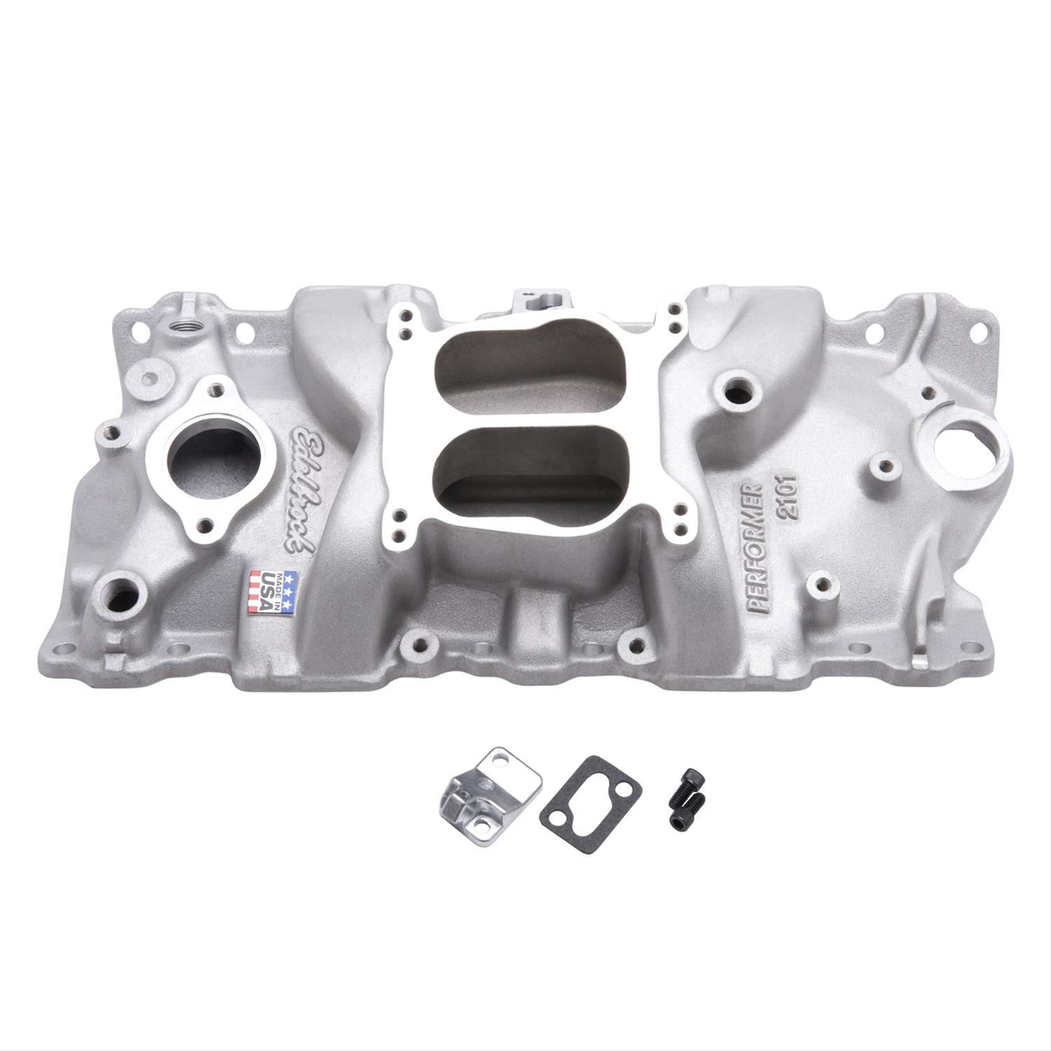 Edelbrock Performer Intake Manifolds 2101 Free Shipping On Orders Chevrolet 350 V8 Engine Block Schematics Over 99 At Summit Racing