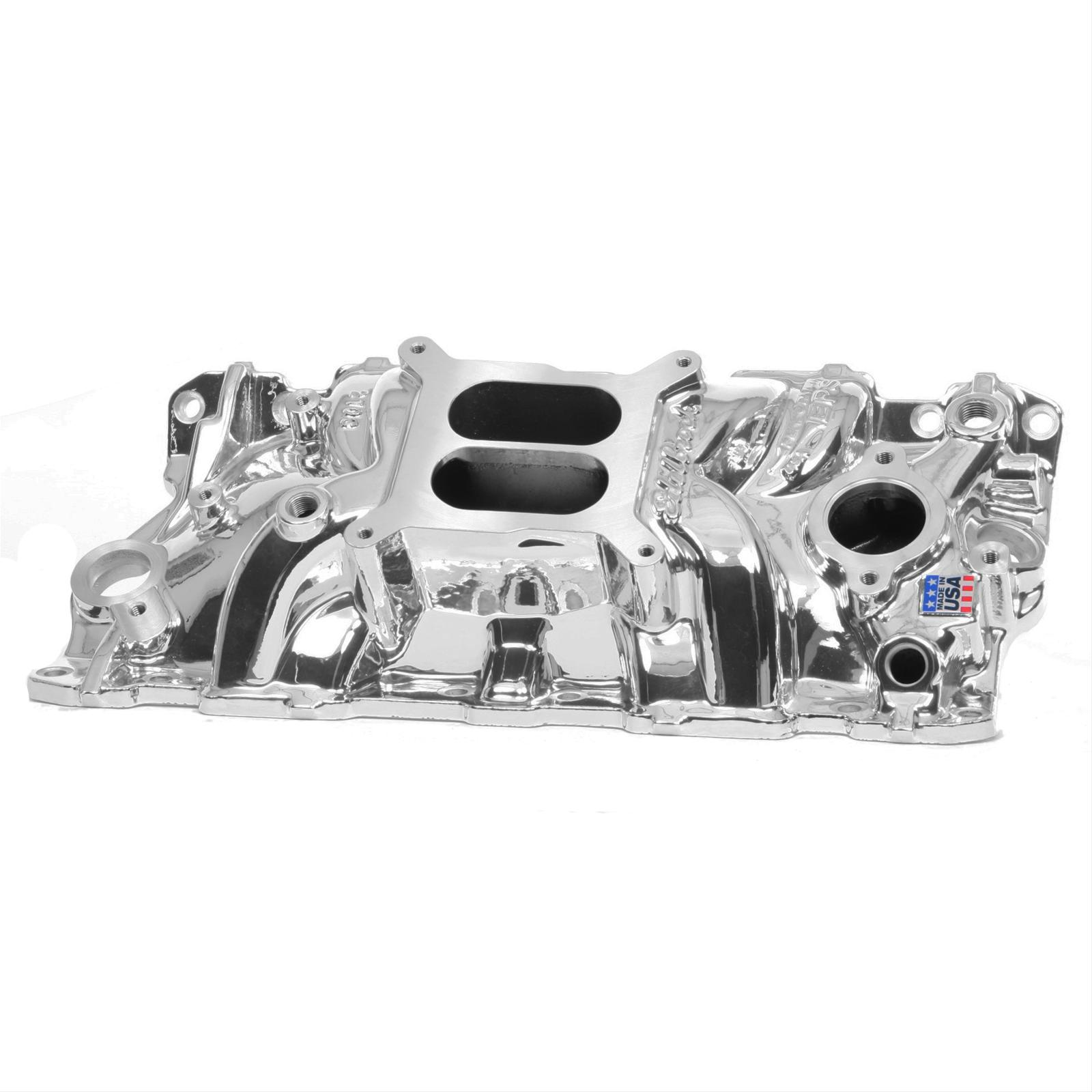 Edelbrock 2701 Perf EPS Intake SB Chevy w// Free ARP Bolts and FelPro Gaskets