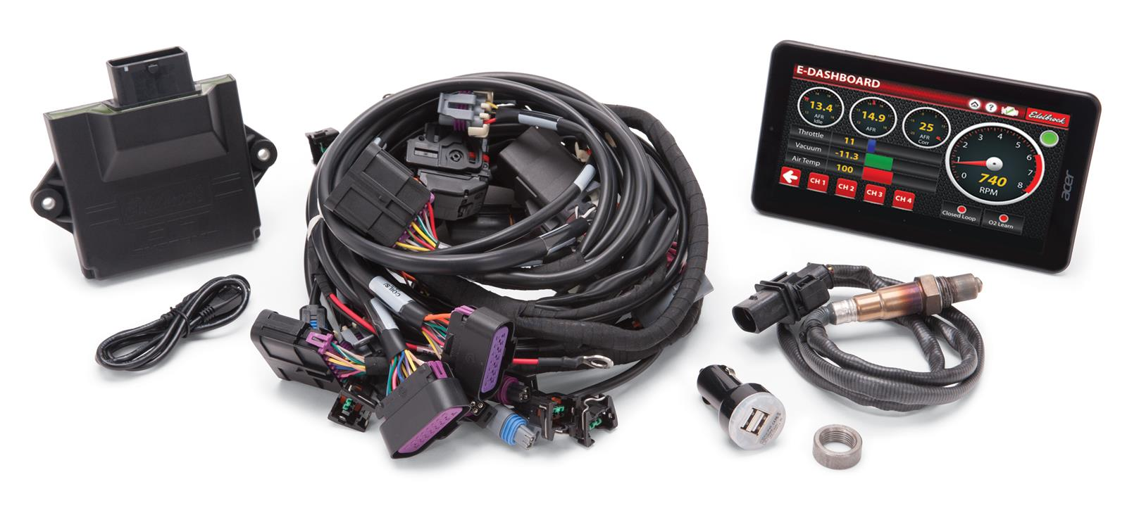 edelbrock pro flo 4 ls self learning engine management systems 35711 57 chevy belair wire harness complete