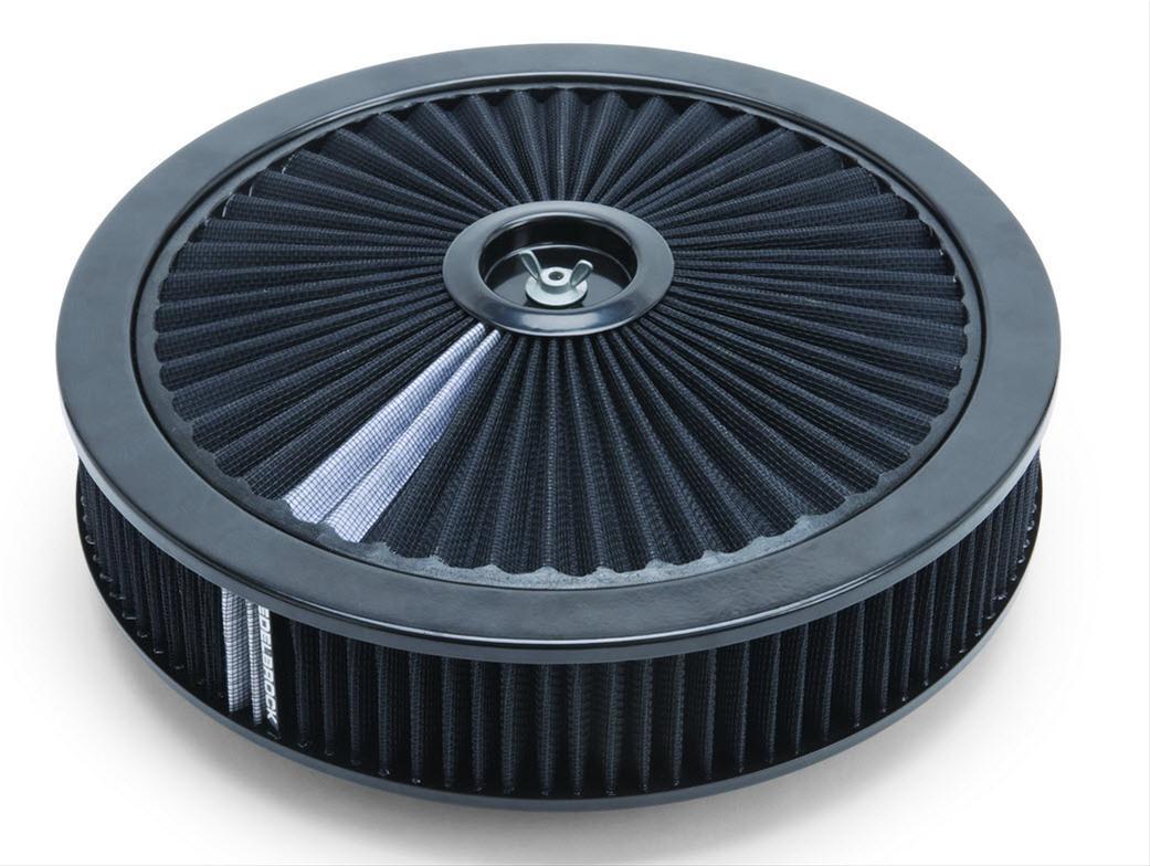 "Edelbrock 43661 Pro-Flo Round Air Cleaner 14/"" Diameter 3/"" Element"
