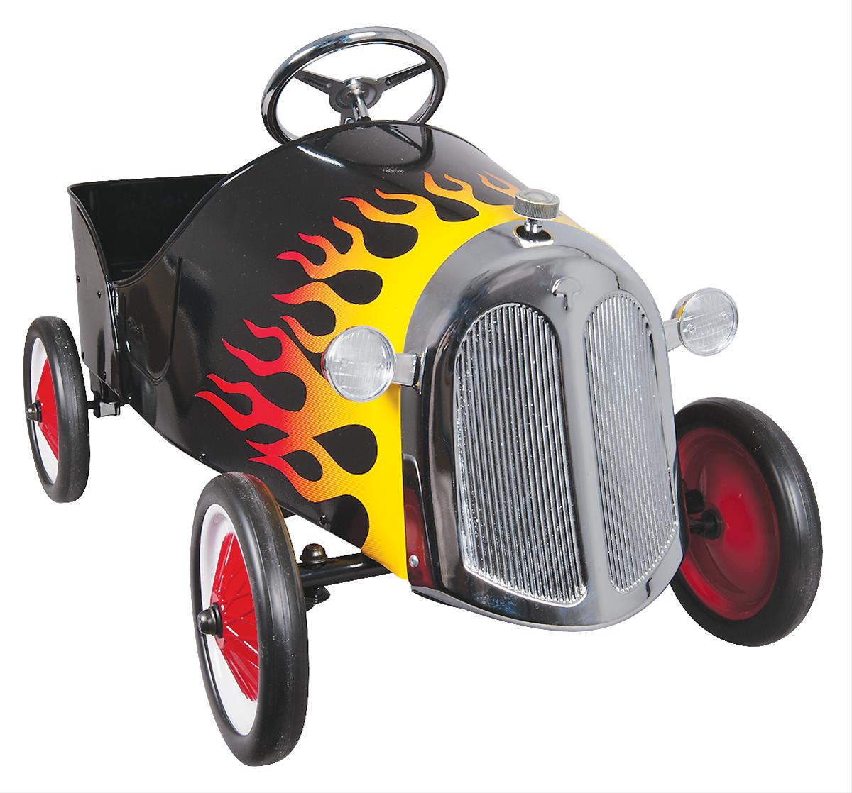 Black Flamed Hot Rod Pedal Car 9705
