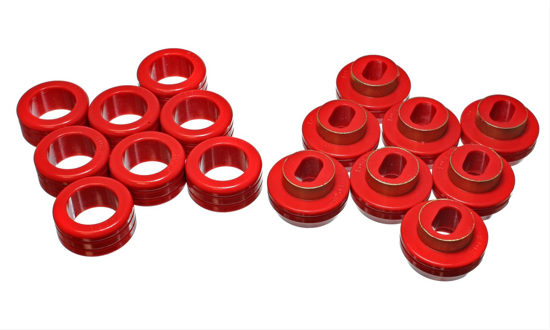 Energy Suspension Body Mount Set 3.4123R; Red Polyurethane for Chevy C//K Trucks