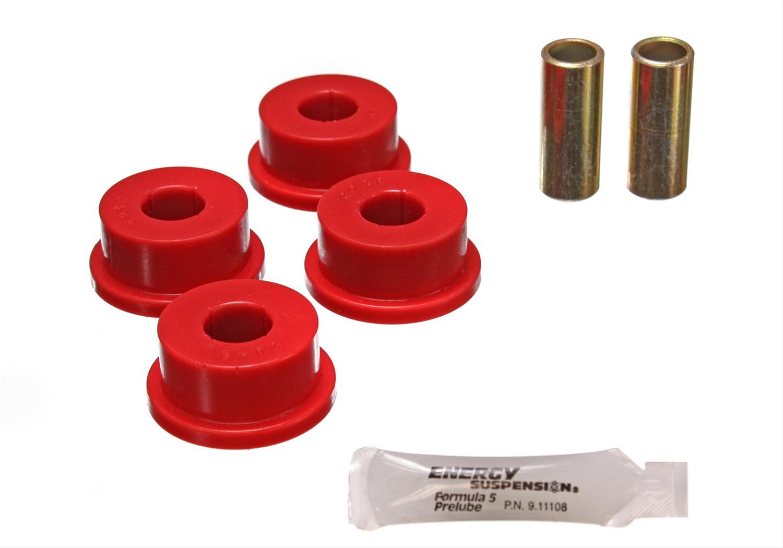 Red Prothane 7-1209 Polyurethane Rear Panhard Track Bar Bushings Kit