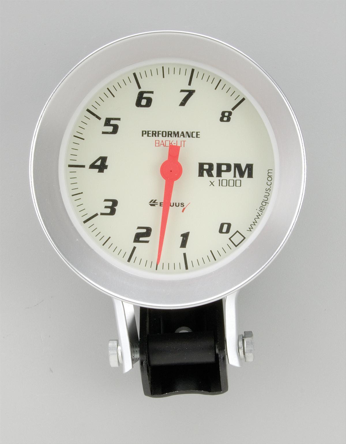 equus tachometer 0 8000 rpm 3 3 8 analog electrical ea 8068 ebay. Black Bedroom Furniture Sets. Home Design Ideas