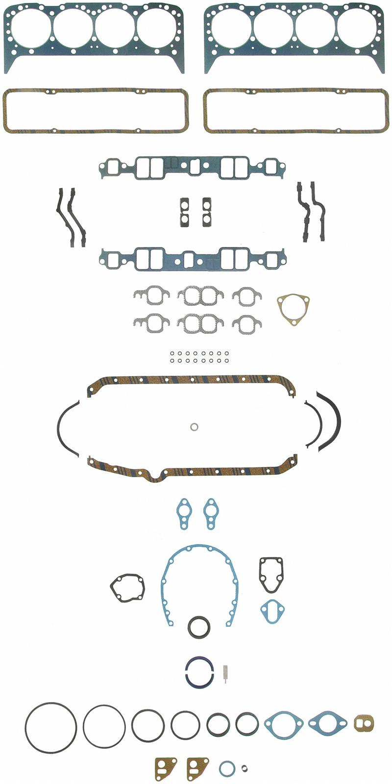 Felpro Engine Gasket Kits Sflfs7733pt2 Free Shipping On Orders. Felpro Engine Gasket Kits Sflfs7733pt2 Free Shipping On Orders Over 99 At Summit Racing. Chevrolet. Chevy 350 Engine Gasket Schematic At Scoala.co