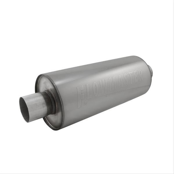 """Inlet//Outlet Round Dynomax 17263 Ultra Flo Muffler 6/"""" H X 6/"""" W X 16/""""  2.5 In"""