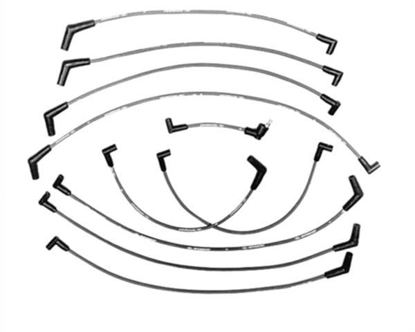 Ford Racing M12259m301 Spark Plug Wire Set 9mm Ignition Wire Set Black