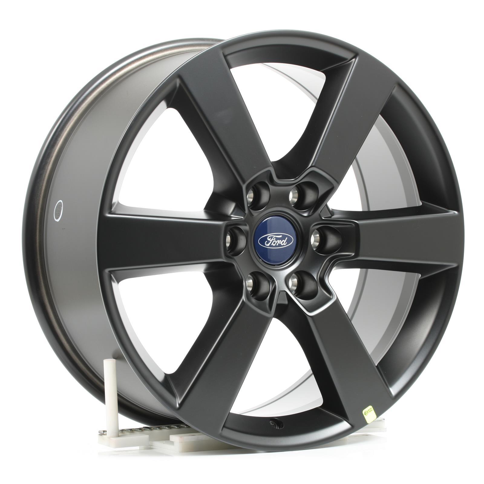 Ford F-150 in Black on Silver Chrome Aluminum Tire Valve Stem Caps
