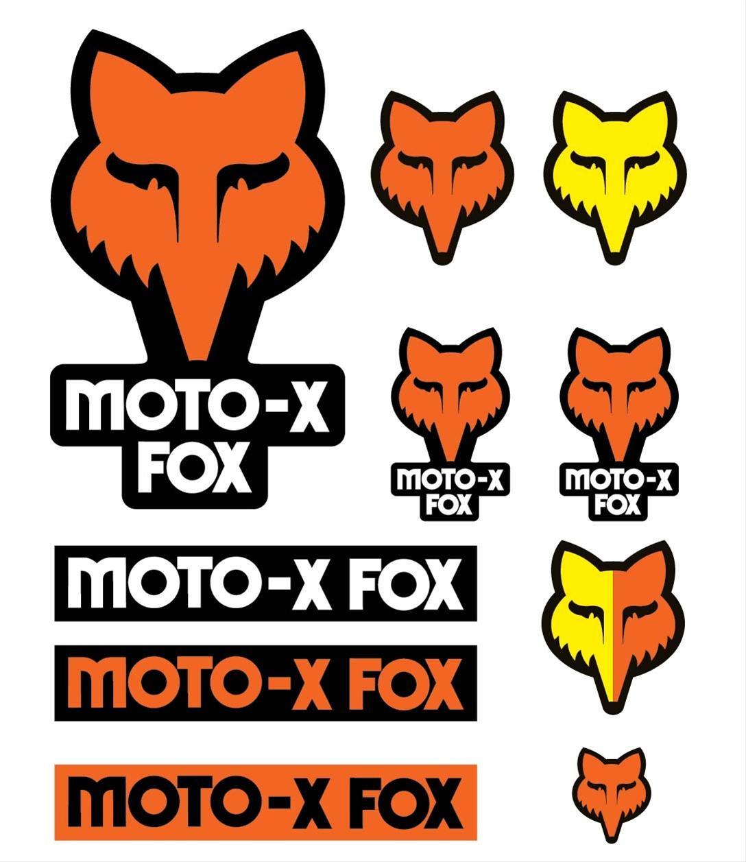 fox racing 14935009ns decal track pack vinyl orange fox