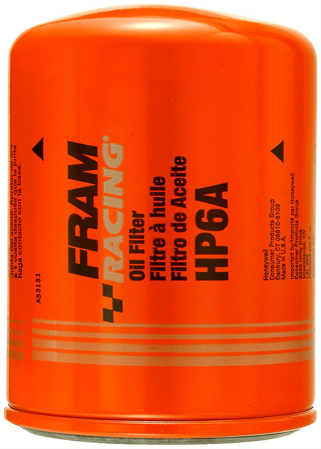 Fram Hp Series Oil Filters Hp6a Free Shipping On Orders Over 99 High Performance Fuel At Summit Racing