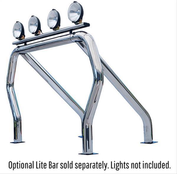 go rhino 9609560ssc roll bar truck bed mount steel chrome ford kit ebay. Black Bedroom Furniture Sets. Home Design Ideas