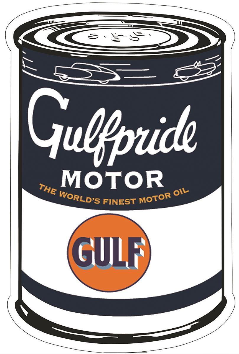 Gulfpride Motor Oil Can Steel Sign Gulf 9 Free Shipping