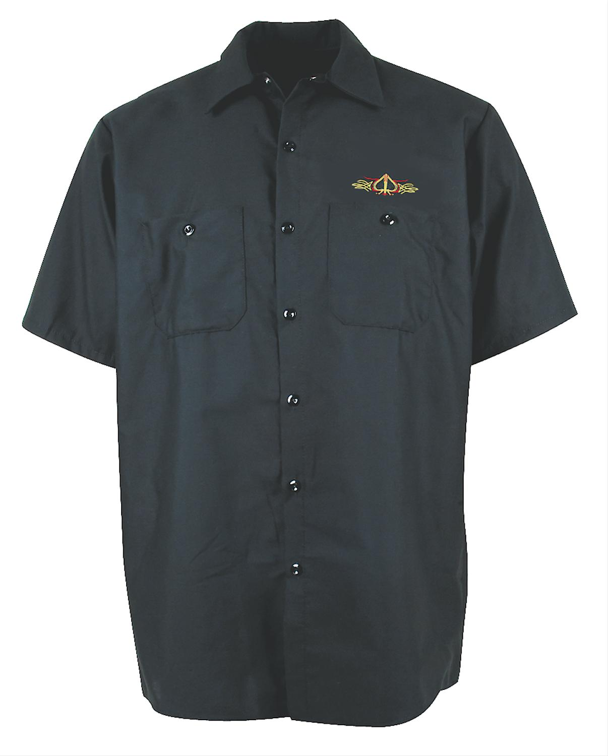 Ghh work shirt button down cotton polyester pinstripped for Polyester button up shirt