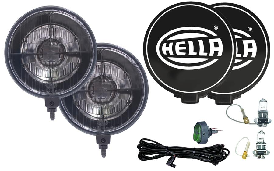 hella 500 series black magic driving lamp kit 55w round 6. Black Bedroom Furniture Sets. Home Design Ideas