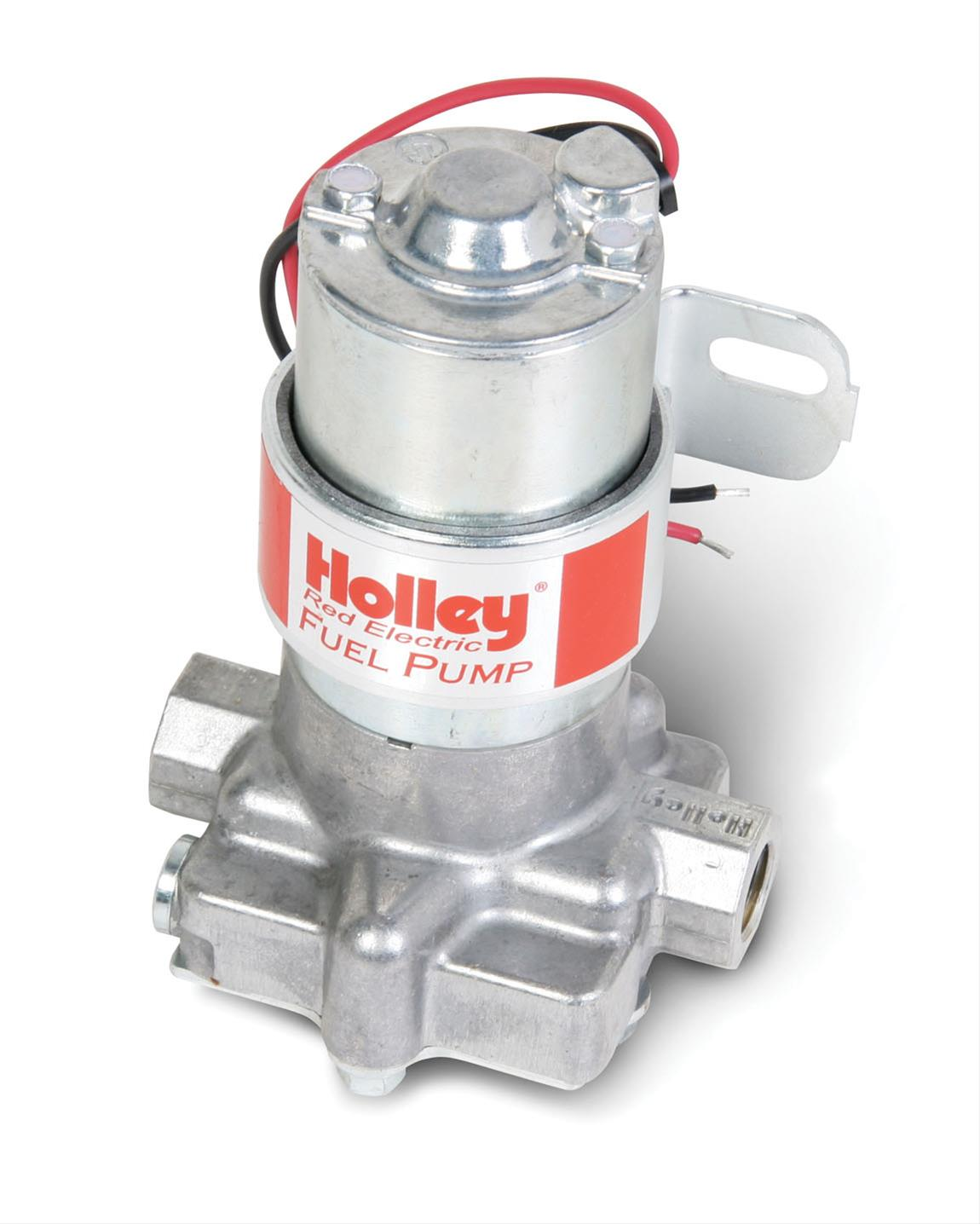 holley 12 801 1 red rotor vane electric fuel pump 97 gph 7 psi 3 8