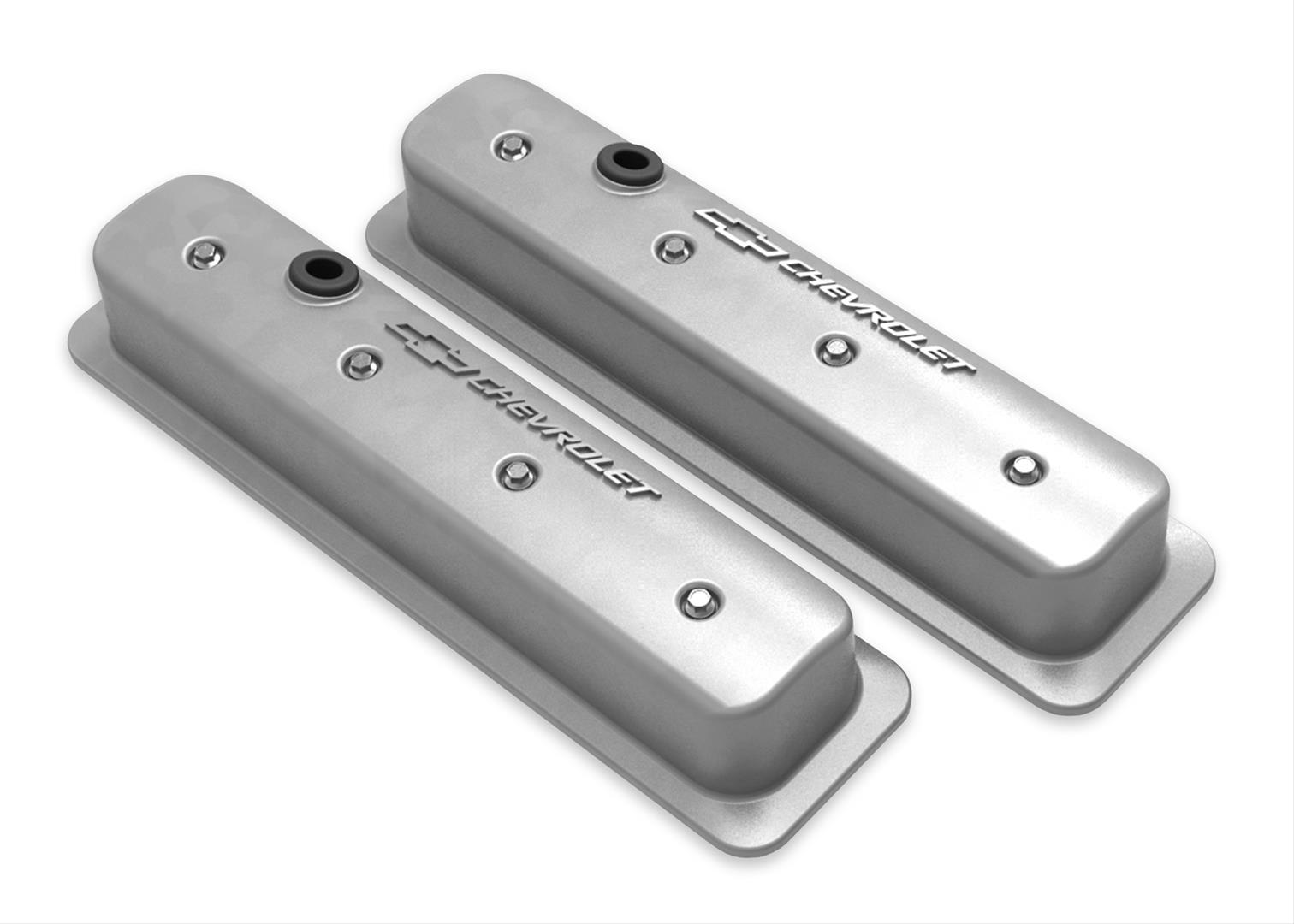 Holley 241-246 Holley Finned Valve Covers for Small Block Chevy Engines Nat...
